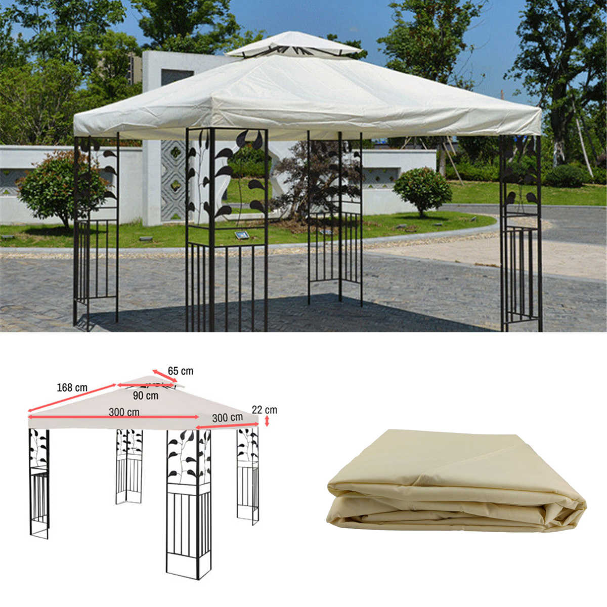 3x3m 300d Canvas Camping Hiking Sun Shelter Outdoor Tent Canopy Top Roof Cover Patio Sun Shade Cloth Shade Shelter Replace Part Aliexpress