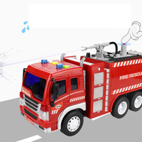 Large Inertia Fire Truck Toy Simulation Can Spray Water Children's Engineering Vehicle Fire Truck Drop Resistance Toy