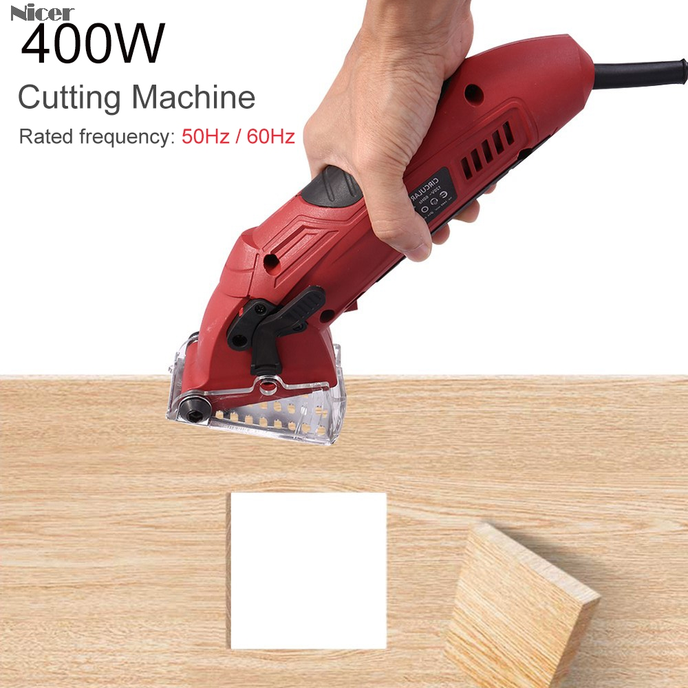 400W Mini Circular Saw Multi-Function Electric Circular Saw Woodworking Tools With 3 Blades Guard Dust Tube EU/US/UK Plug