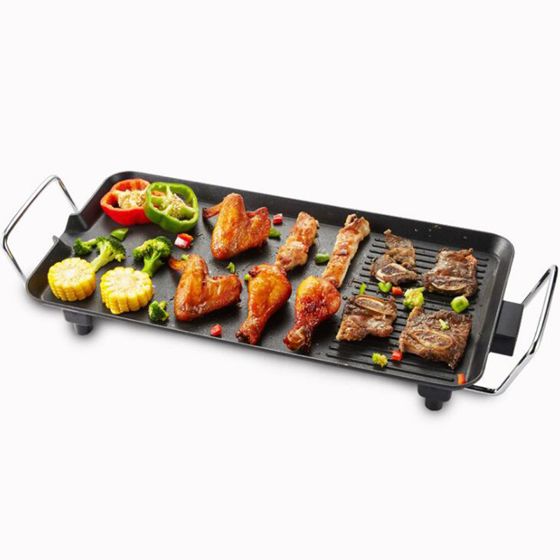Electric BBQ Grill Large Power Baking Pan Non-stick Multifuntional Household  Surface Hot Plate Kitchen Griddle Barbecue Machine