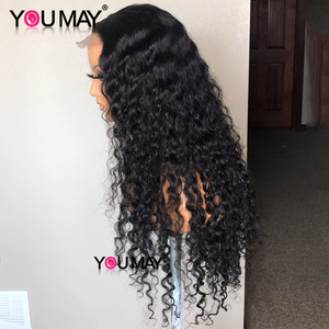 Image 4 - Full Lace Human Hair Wigs Fake Scalp Glueless Brazilian Deep Curly Transparent HD 30 Inch Full Lace Wig 250 Density Bob You May