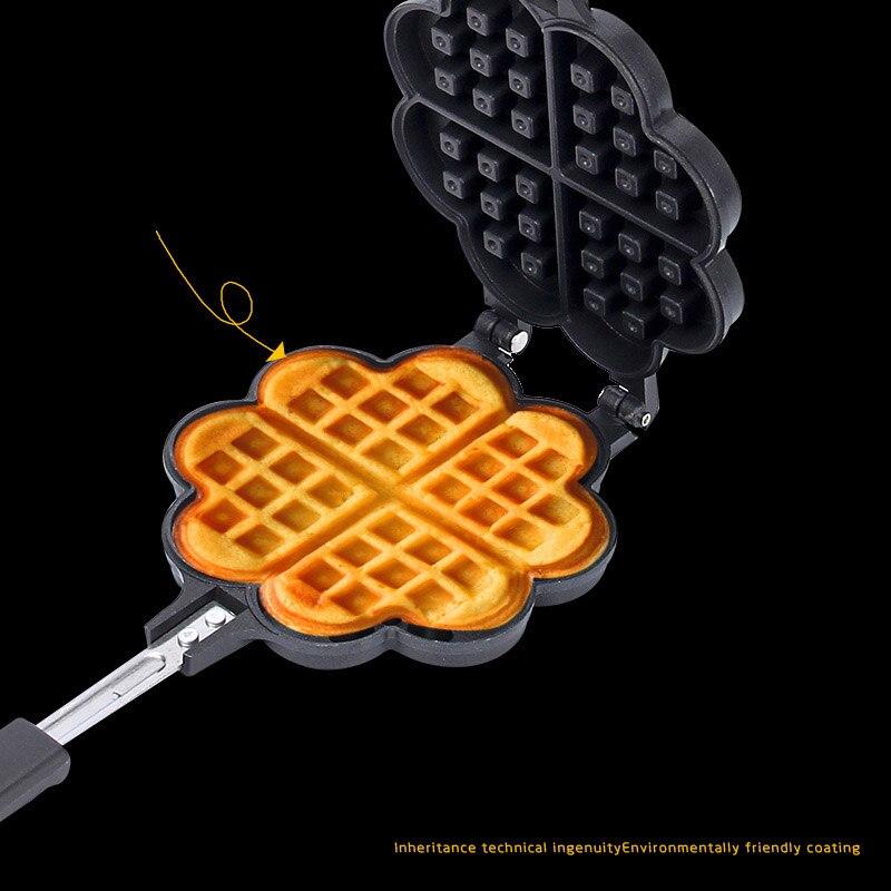 Waffle-Maker Pan Non-Stick 14cm Muffin Cake Lattice Barbecue Steak Breakfast Pot Dish Kitchen Baking Waffle Mold