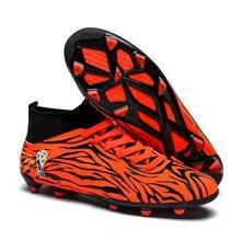 ndoor Soccer Shoes Men Futsal High Top Soccer Cleats Adults Magista TF