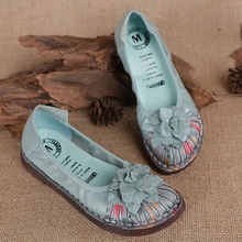 Retro nation leather loafers womens summer leisure shoes 2021 stylish female genuine leather flats mom shoes