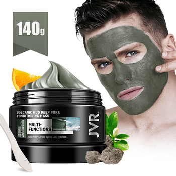 JVR Facial Mask Volcanic Clay Oil Control Deep Cleaning Blackhead Remover Purifying Shrink Pore Acne Treatment For Face - discount item  35% OFF Skin Care