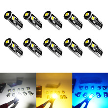 10pcs W5W T10 LED Bulbs Canbus 194 168 175 2825 Super Bright 3030 Chipset for Interior Dome Map Door Trunk License Plate Light