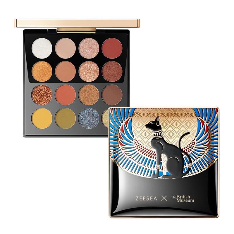ZEESEA Eyeshadow-Palette Egypt Holographic Matte Waterproof 16-Colors New