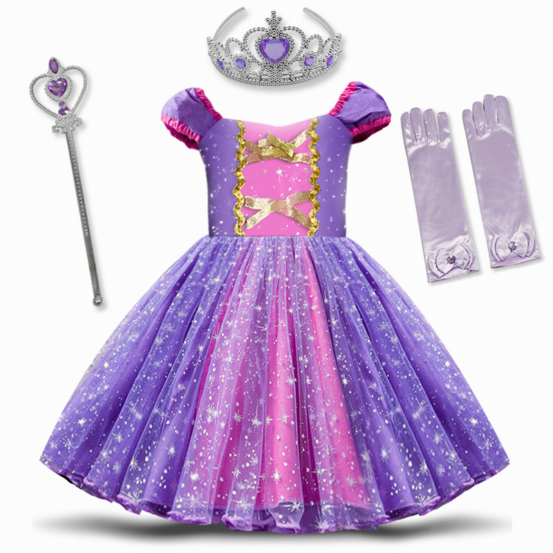 Princess Dress Cosplay Princess Costume for Baby Girl Toddler White Girls Clothes 12M Birthday Party Dress 2