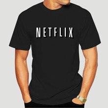 Netflix camisa paródia netflix e frio diversão filme noite halloween traje t legal nova chegada juventude Fashion-3716A