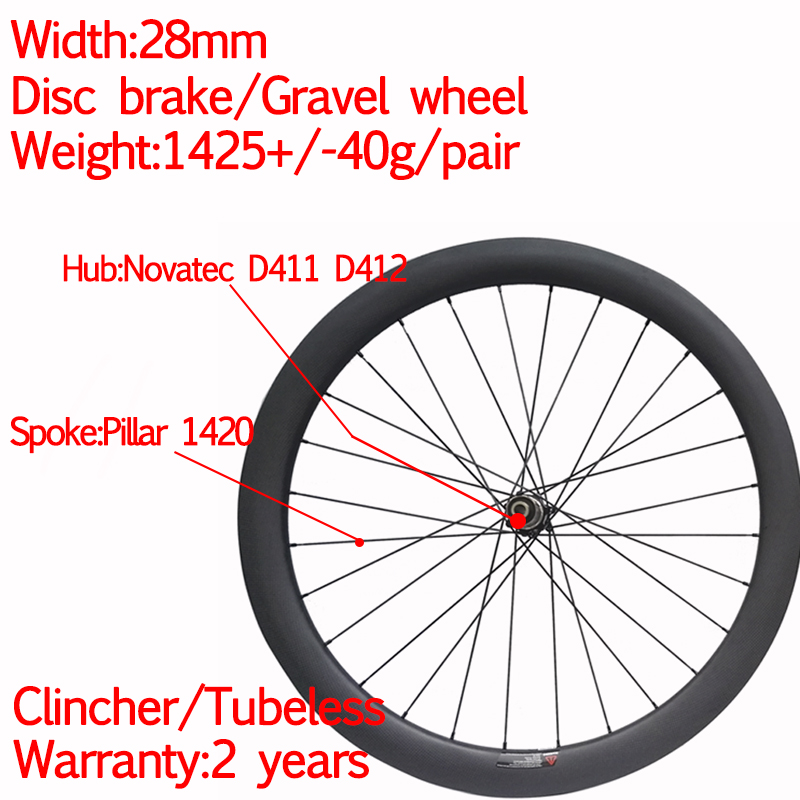 Super light width 28mm carbon <font><b>bike</b></font> disc gravel <font><b>wheel</b></font> 50mm with center lock or <font><b>6</b></font> bolt 12*100 12*142 or XDR image