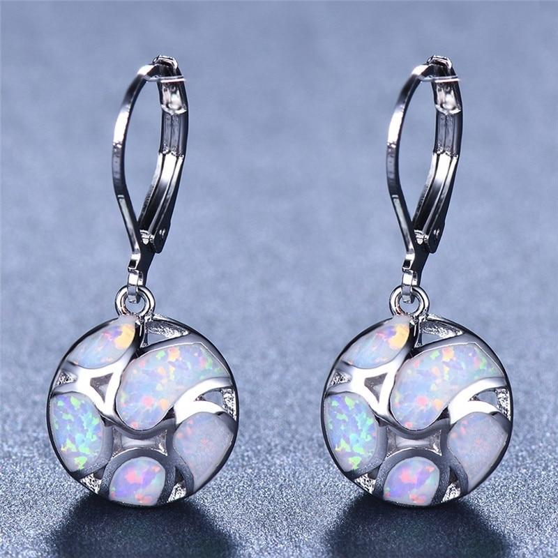 Fashionable Modern Women's Earrings Bohemian Fire Opal Long Girl Earrings Accessories Elegant Declaration Jewelry Gift