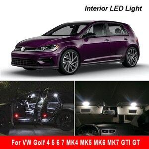 Image 1 - פנים LED עבור פולקסווגן פולקסווגן גולף 4 5 6 7 MK4 MK5 MK6 MK7 GTI GT Canbus רכב הנורה מקורה כיפת מפת קריאת אור קיט