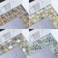 Alfombrilla de PVC para cocina, Tapete de cuero resistente al aceite impermeable, felpudo grande, alfombras para puerta del dormitorio, Tapete Tatami