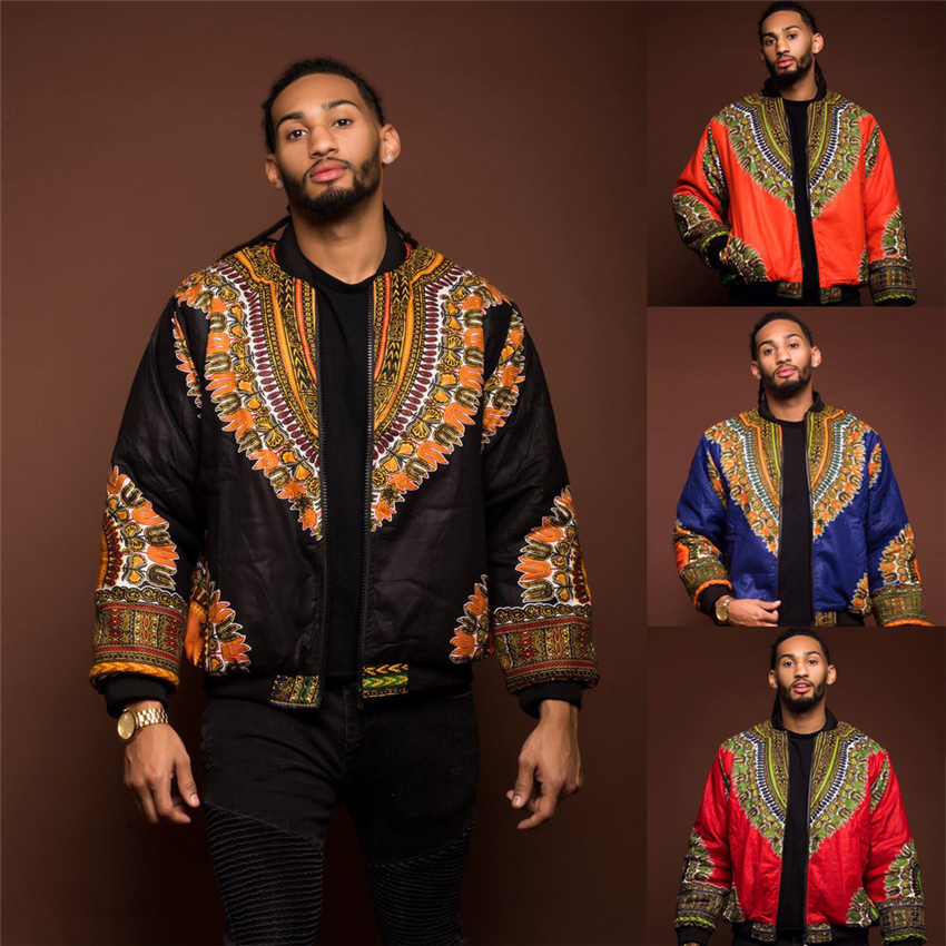 2019 African Men Jacket Print Rich Bazin Long Sleeve Fashion Africa Traditional Dashiki Retro Coat For Male Clothing S-XL