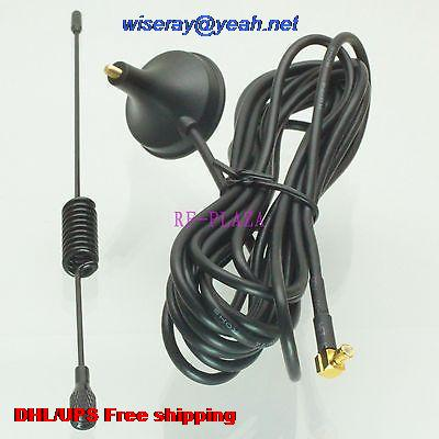 DHL/EMS 100 Pcs 3G Antenna 3G 3dBi Date Card GPRS GSM MCX Male Right Angle Antenna For Wireless& Devices Aerial-A1