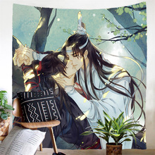 Wall Hanging Tapestry Print Japan Anime Cartoon Tapestry Film Tapestry Beach Towel Polyester Fabric Blanket Room Decor For Gifts janeyu new cosmos star velvet multifunctional polyester tapestry hanging beach towel