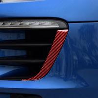 Pegatina embellecedora resistente al calor, faro rojo ligero de fibra de carbono, a prueba de rayos UV, para Porsche Macan, años 2014 a 2018, 2 uds.