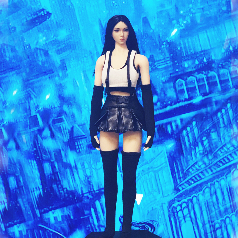 In stock Tifa 3.0 1/6 CJG-W029 <font><b>final</b></font> and <font><b>fantasy</b></font> <font><b>7</b></font> protagonist COS suit suitable for 12-inch female movable dolls image