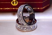 Silver Round Big Ring with Bling Zircon Stone for Women Wedding Engagement Ring Fashion Jewelry 2019 New 925(China)