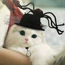 Хэллоуин Pet черная шляпа паук Декор забавная шапка Хэллоуин костюм головной убор Косплей Одежда Аксессуары для щенка кота