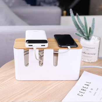 Organizer na biurko organizator biurowy stacjonarne dostaw Organizer na biurko pudełko do kabli uchwyt na kabel Organizer do kabli tanie i dobre opinie Plastic