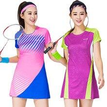 Женское платье для тенниса кофта для бадминтона тонкие быстросохнущие дышащие спортивные платья Мини платья