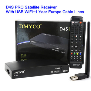 Image 5 - Dmyco d4s 프로 DVB S2 위성 수신기 1 년 유럽 서버 업 그레 이드 v8 슈퍼 h.265 hd usb 와이파이 hd 스페인 freesat 수용체