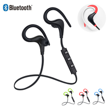 Bluetooth wireless earphone stereo ear-hook sports noise reduction earphones with microphone headset for xiaomi iPhone Samsung junerose jr i710 in ear stereo earphone w microphone for iphone samsung htc pink white