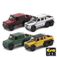 Ära Auto 1: 64 AMG G63 6x6 Pickup Lkw weg von der straße mit Milchvieh Familie Wüste Version Diecast Modell Auto