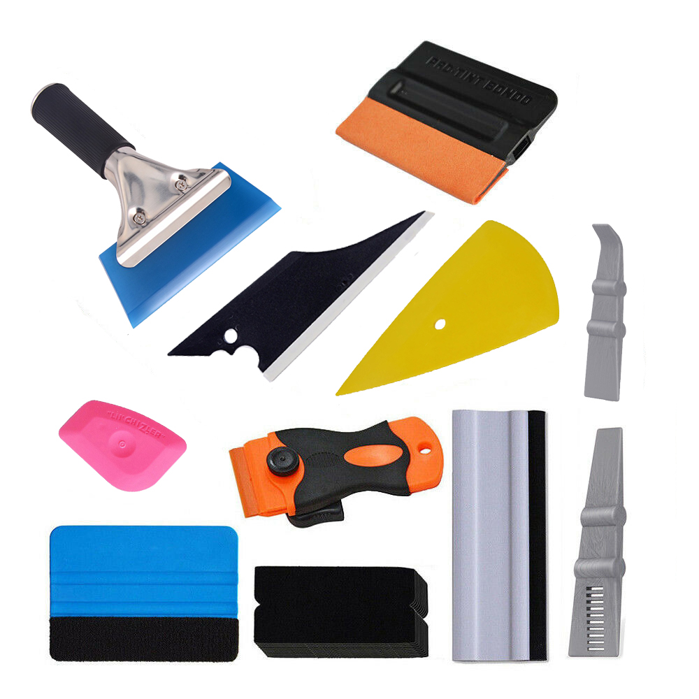 EHDIS Vinyl Car Film Squeegee Tools Kit Carbon Foil Film Wrap Razor Scraper Sticker Wrapping Window Tint Tools Auto Accessories|  - title=