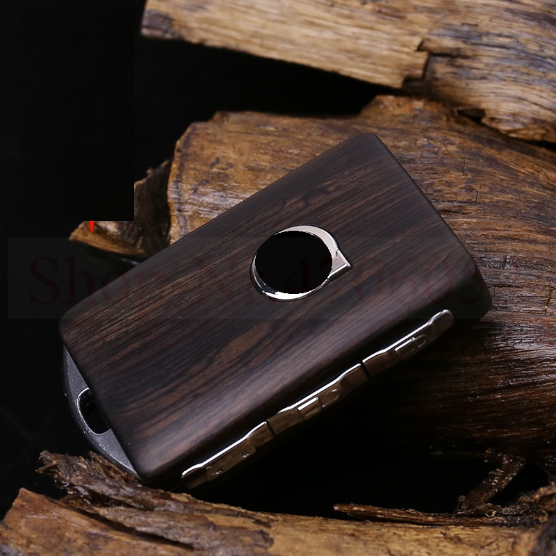 Keyless Entry Remote Control Refit Wooden Car Key Fob Shell Replacement for Volvo 2015-2018 XC90 S90 V90 2018 XC60  case only