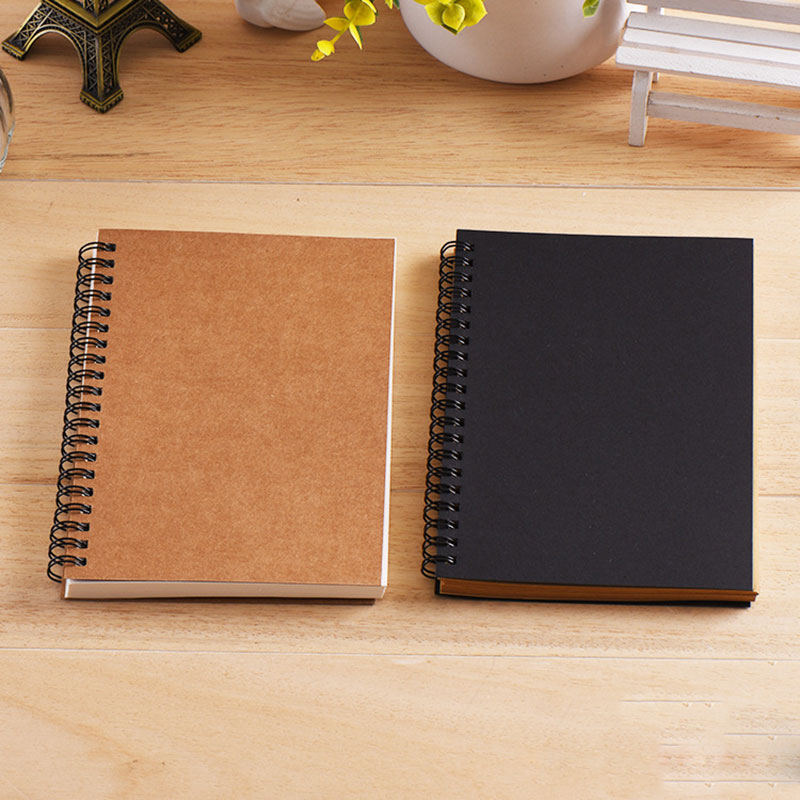 Notebook Sketchbook Graffiti Notebook For School Supplies Size A5&A6 50 Sheets Kraft Paper Cover Notebook Blank Page