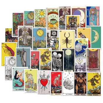 60PCS Tarot Card Fortune-telling Doodle Sticker Collection For Luggage Laptop Skateboard Pegatinas Toy Decals Stickers F4 - discount item  40% OFF Classic Toys