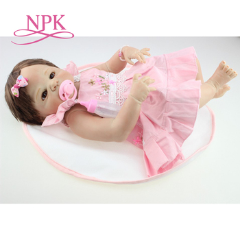 NPK free shipping hotsale reborn baby doll girl victoria by SHEILA MICHAEL so truly real collection finished doll as picture
