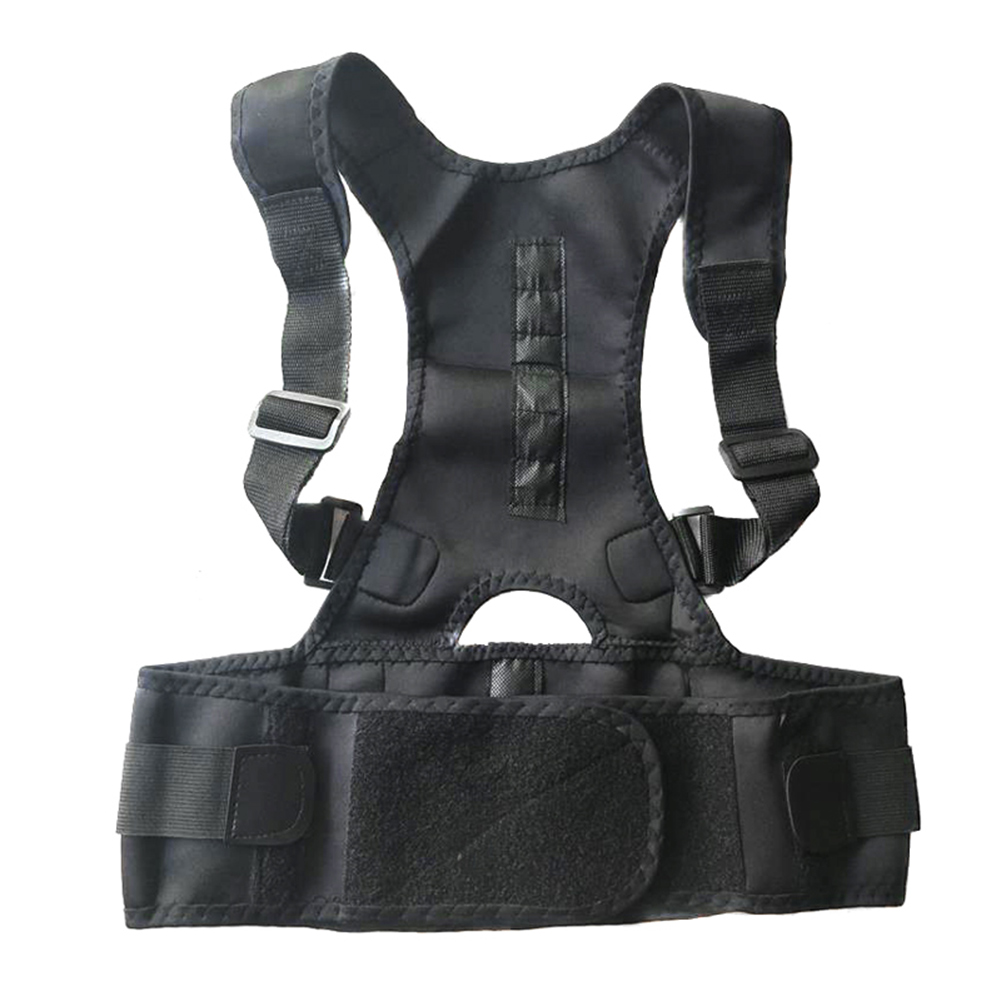 New Adjustable Posture Corrector Male Female Magnetic Back Support Nylon Elastic Shoulder Back Brace Belt 2