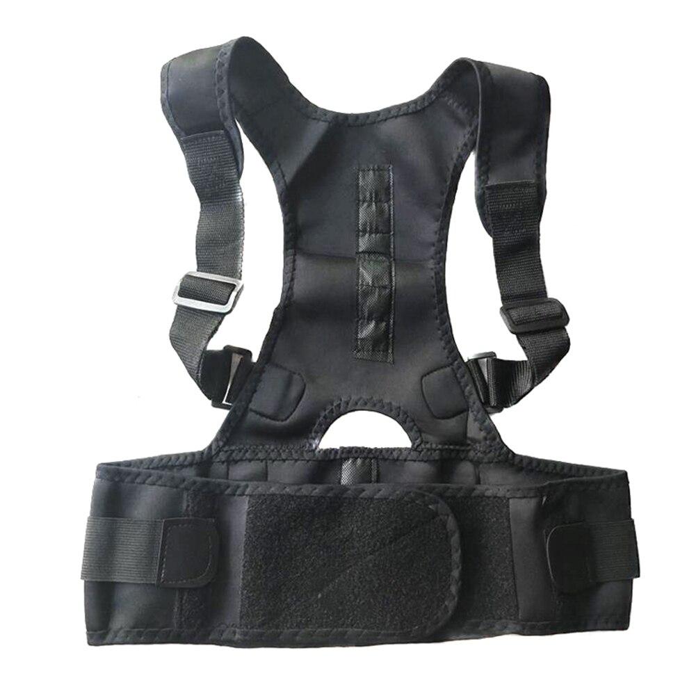 Male Female Posture Corrector Adjustable Magnetic Back Support  Nylon Elastic Shoulder Back Brace (free Gift)