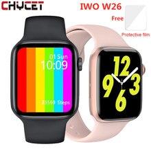 Original iwo w26 relógio inteligente das mulheres dos homens bluetooth chamada ecg monitor de freqüência cardíaca fitness rastreador relógios smartwatch à prova dwaterproof água 2021