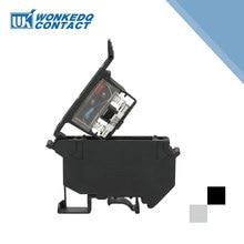 10 шт. UK-5-HESI din-рейку клеммные блоки черный вместо Феникса контактный разъем винт предохранитель клеммный разъем