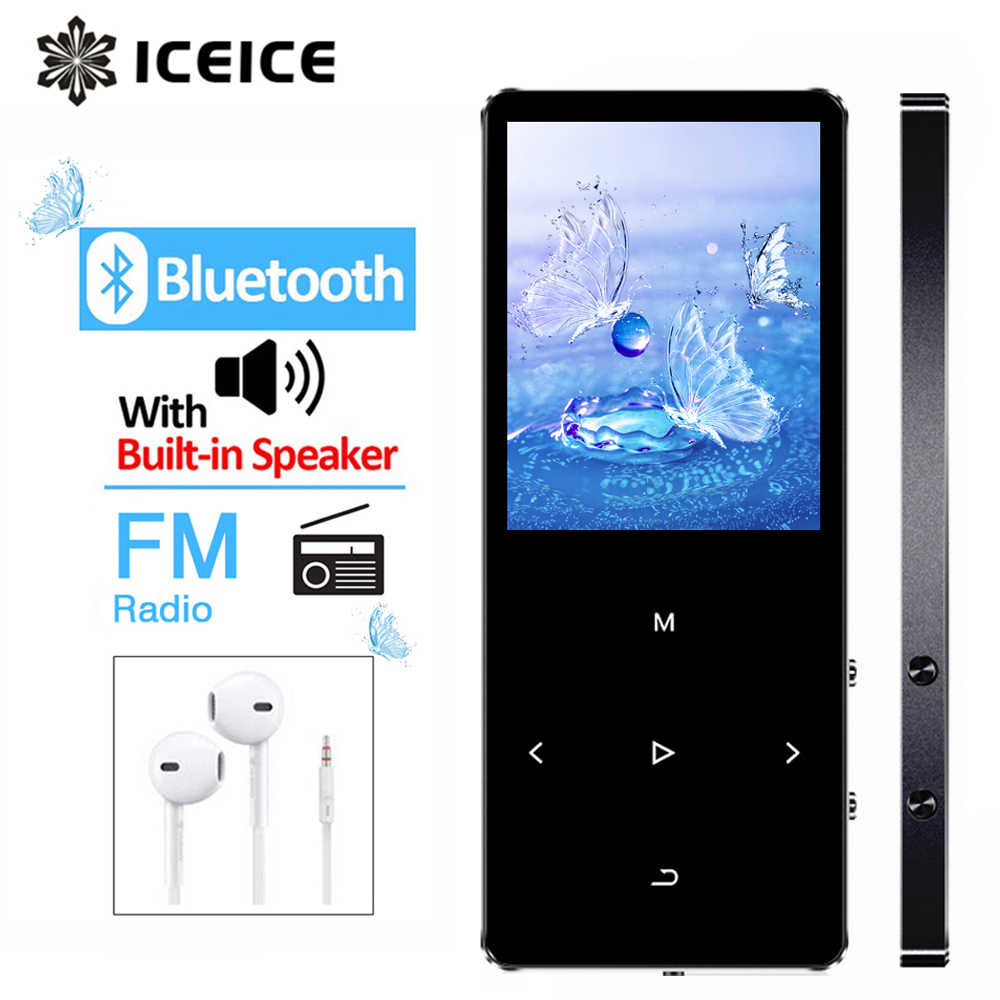 ICEICE MP3 Player with Bluetooth Touch Keys Built-in Speaker 8GB 16GB 32GB 40GB HiFi Portable Walkman Radio FM Recording MP 3