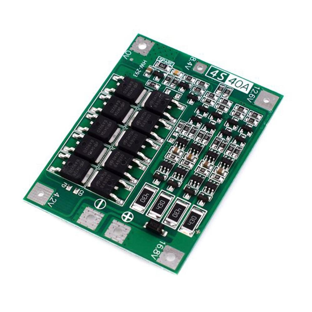4S Li-Ion Lithium Battery 18650 Charger PCB BMS Protection Board Lipo Mobile Module With Balanced Startable Drill 40A Current image