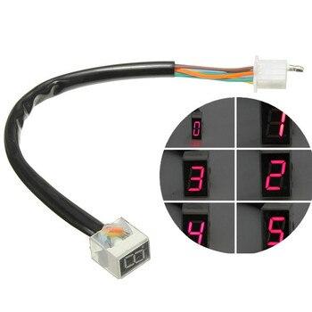 цена на 8 Digital Display Speedometer Indicator Motorcycle Display Shift Lever Sensor Led Universal Digital Gear Indicator Motorcycle