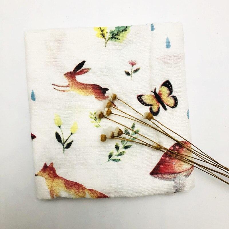 Детское бамбуковое одеяло из органического хлопка для новорожденных, муслиновое Пеленальное полотенце для кормления - Цвет: mushroom bamboo