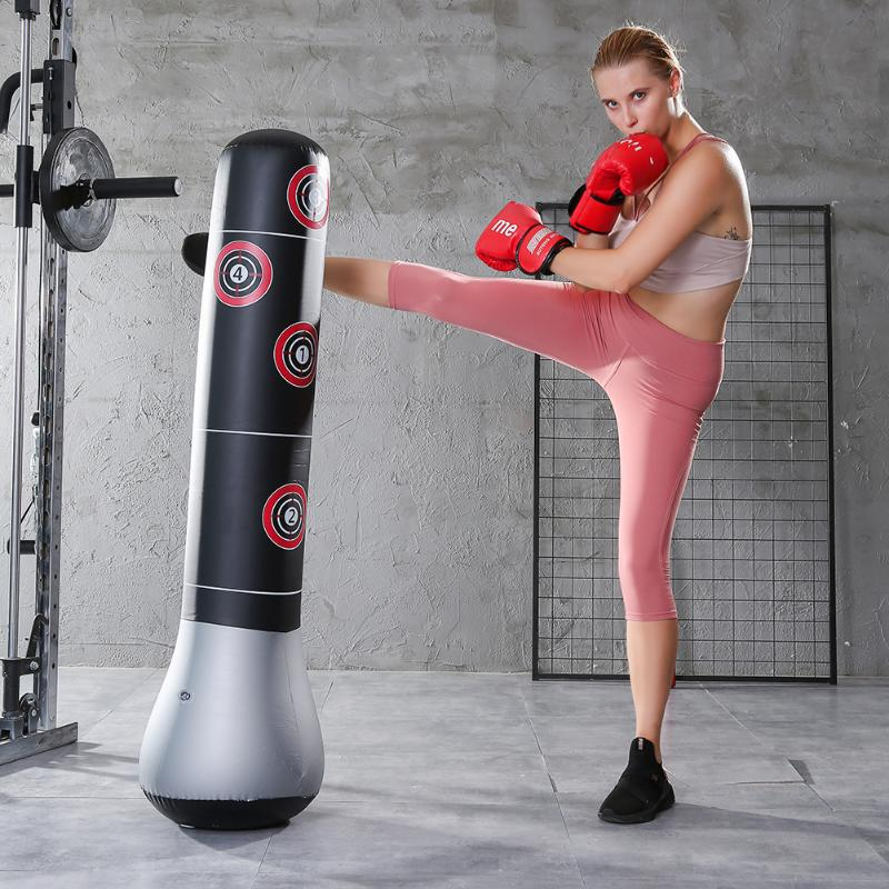 Inflatable Boxing Bag Training Relief Exercise Punching Stand Fitness Equipment