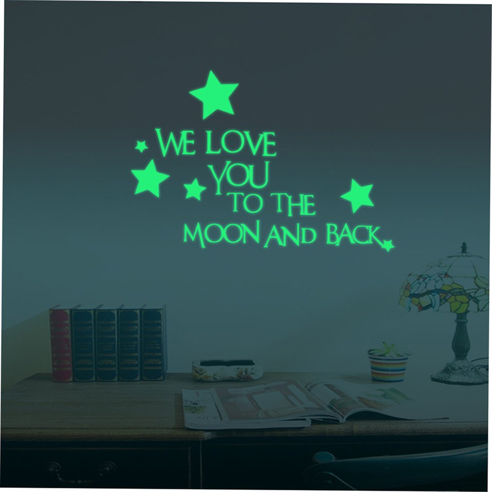 Neuf planètes lune lumière autocollant PVC auto adhésif autocollant enfants chambre fond papier peint Design mignon - 6
