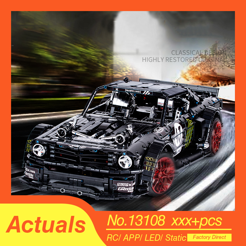 Technic series Remote Control Bricks Ford Mustang Hoonicorn RTR V2 Model Kit Fit Lepined Technic MOC-22970 Building Blocks Toys 1