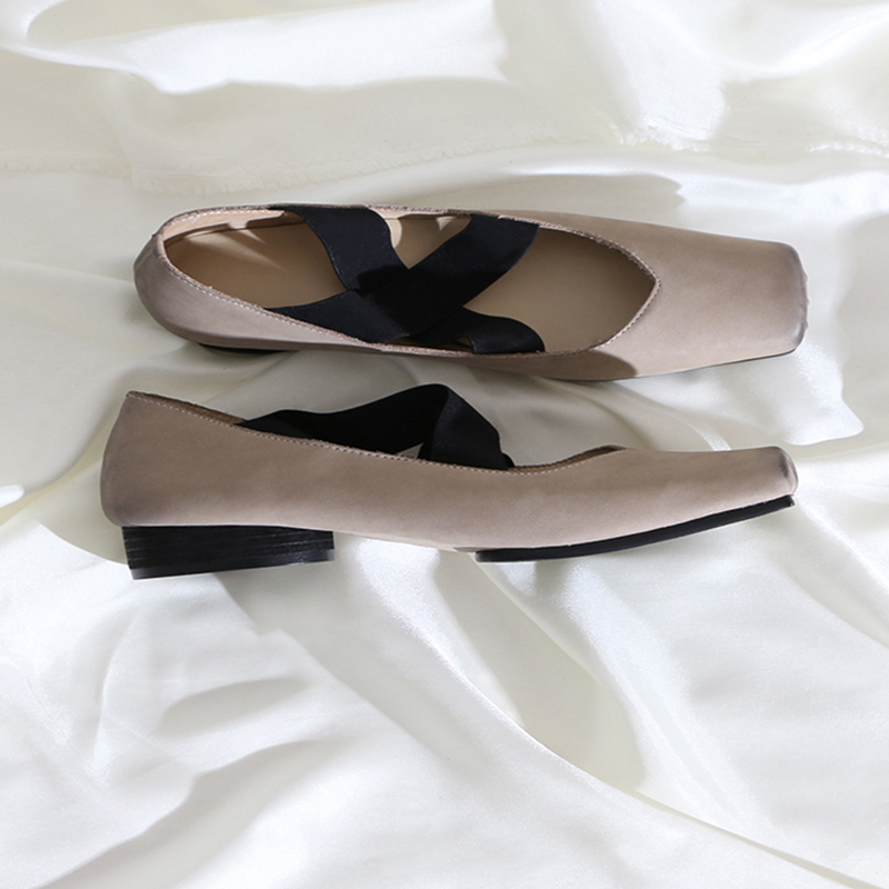Women's Shoes Comfortable Elegant Flat Genuine-Leather Fashion New Cross-Strap Hot-Sell