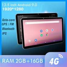 12.5 Inch Android Auto Hoofdsteun Monitor 1920*1280 Video Ips Touchscreen Gps 4G Wifi/Bluetooth/usb/Fm/Camera MP5 Video Dc Speler
