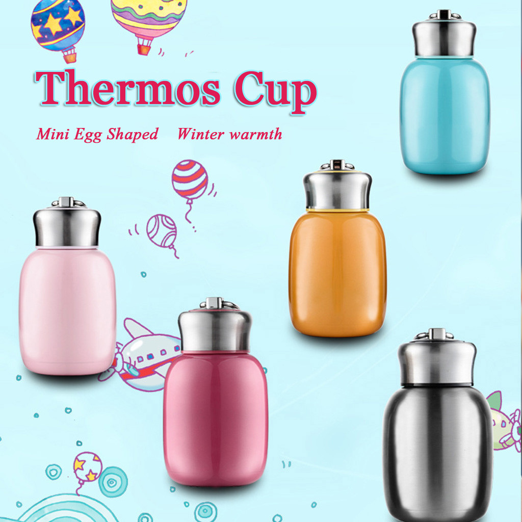 #47 200ml Thermos Mug Creative Water Cup Belly Cup Stainless Steel Vacuum Cup Solid Mini Egg-shaped Design Shape Tasse Isotherme