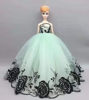 Czarna róża 11 5 #8222 lalka ubrania dla Barbie sukienka ślub księżniczki suknia wieczorowa strój 1 6 BJD ubrania dla Barbie lalki Barbie akcesoria zabawka tanie i dobre opinie qichangsheng 25-36m 4-6y 7-12y 12 + y 18 + Tkanina CN (pochodzenie) for Barbie Clothes Dziewczyny Moda kostium cosplay for dolls about 29cm height