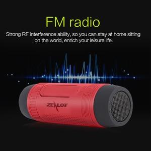 Image 5 - Zealot S1 altavoz portátil Bluetooth altavoz inalámbrico para bicicleta + Radio fm al aire libre impermeable Boombox soporte tarjeta TF, AUX, linterna
